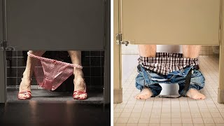Download This Is the Reason Why the Doors in Public Toilets Don't Reach the Floor Video