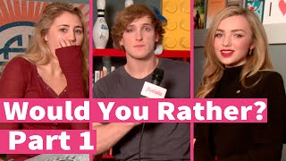 Download Peyton List, Logan Paul and Lia Marie Johnson play Would You Rather! Part 1 Video
