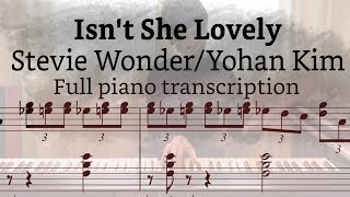 Download Isn't she lovely - Yohan Kim(piano transcription) Video