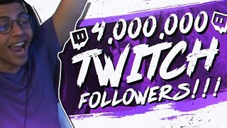 Download CELEBRATING 4 MILLION TWITCH FOLLOWERS! LIVE REACTION Video