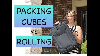 Download Best Method: Packing Cubes vs Rolling Method in a CarryOn - My Test and Review Video