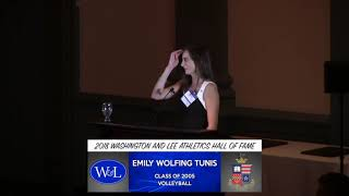 Download Emily Wolfing Tunis Hall of Fame Speech Video