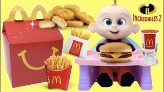 Download The Incredibles 2 Movie McDonald's Happy Meal Toys with Baby Jack Jack Family Superheroes Video