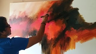 Download Abstract painting / Demonstration of abstract painting in Acrylics / Easy blending Video