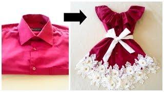 Download تحويل سريع من قميص رجالي قديم الى فستان طفله بكل سهوله Video