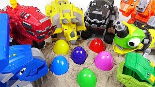 Download There are eggs in the ground! Dinotrux play a Suprise eggs game! - DuDuPopTOY Video