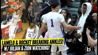 Download ZION Watches LaMelo Ball Try To Dunk Like ZION!!! Rocket Watts CHECKING ANKLES!! Video