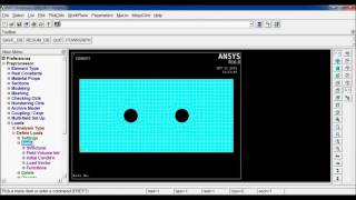 Download Rectangular Plate with Circular Holes Analysis in ANSYS APDL 16.0 Video