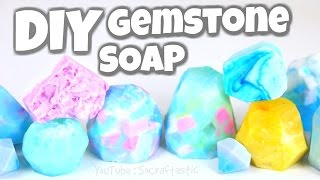 Download DIY Gemstone Soap - Easy Melt & Pour Soap Making How To - SoCraftastic Video