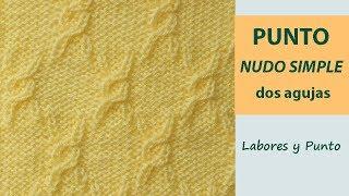 Download Como tejer el punto nudo simple a dos agujas- Labores y Punto Video