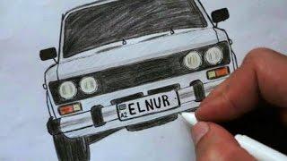 Download ❤️ Как нарисовать машину ВАЗ 2106 поэтапно❤️ (Ehedov Elnur)❤️ VAZ 2106-nece cekilir ❤️ Video