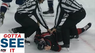 Download GOTTA SEE IT: Alex Ovechkin Throws Knockout Punch On Andrei Svechnikov Video