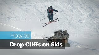 Download HOW TO DROP ON SKIS | CLIFF DROPPING Video