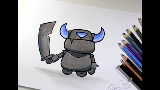 How To Draw Mini Pekka From Clash Royale Easy Chibi Step By Step