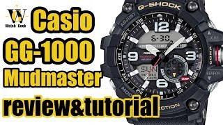 Download Casio G Shock GG 1000 MUDMASTER - module 5476 review & tutorial how to set up ALL the functions Video