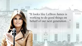 Download First lady Melania Trump ″willing to visit″ LeBron James' school Video
