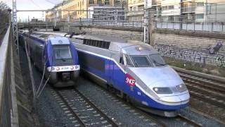 Download 1 train TGV OUIGO Dasye 760,3 BB75000 fret,12 trains TER, 8 trains TGV à Lyon Video