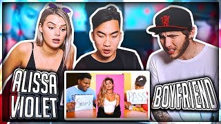 Download BOYFRIEND REACTS TO PEOPLE WHO SMASH OR PASS ALISSA VIOLET Video