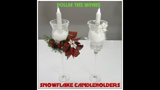 Download Tricia's Creations: Snowflake Candleholder Dollar Tree Video