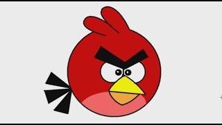 Download สอนวาดรูปการ์ตูน นกแองกรี้เบิร์ด Angry bird ด้วยโปรแกรม MS PAINT Video