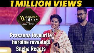 Download Jfw Golden Divas 2018 - Prasanna favourite heroine revealed! Sneha Reacts Video