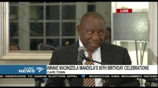 Download Cyril Ramaphosa's birthday message to Winnie Video