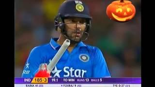 Download Yuvraj Singh wins a last ball thriller Vs Aus T20 2016 Video