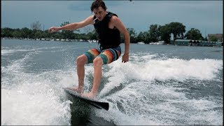 Download Wake Surfing VS Racing Drone (plus Bando HEAVEN) Video