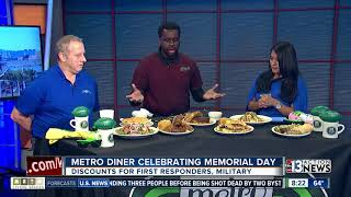 Download Metro Diner offering discounts for first responders, military on Memorial Day Video