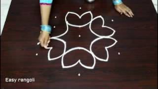 Download simple kolam designs with 7x4 dots || chukkala muggulu with dots || easy rangoli designs Video