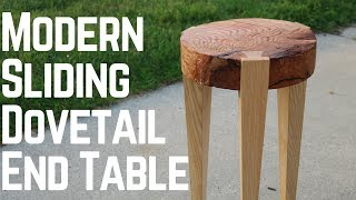 Download Modern End Table With Sliding Dovetails! Video