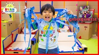 Download Chuck E Cheese Box Fort Arcade Games with Ryan ToysReview!!! Video