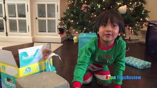 Download Ryan Opens Christmas Presents Early and Leaves Treats for Santa Video