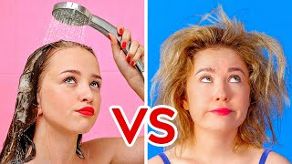Download SHORT HAIR VS LONG HAIR PROBLEMS    Funny Awkward Situations by 123 GO! Video
