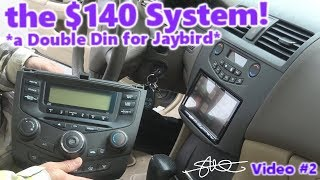 Download A Double Din for Jaybird! The $140 Sound System! '04 Honda Accord (video 2) Video