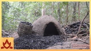Download Primitive Technology: Reusable charcoal mound Video