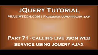 Download Calling live json web service using jquery ajax Video