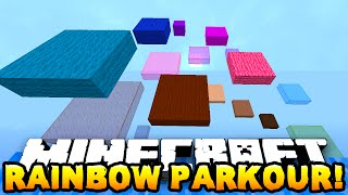 Download Minecraft RAINBOW PARKOUR RACE! (Sky Parkour) w/PrestonPlayz, Vikkstar, Lachlan & Pete Video