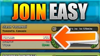 Download JOIN TOURNAMENTS ALMOST EVERYTIME!? | Clash Royale EASY Trick to Find Tournaments! Video