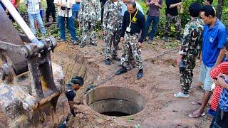 Download ภาพเหตุการณ์ช่วยลูกช้างป่าตกบ่อน้ำที่เขาชะเมา Video