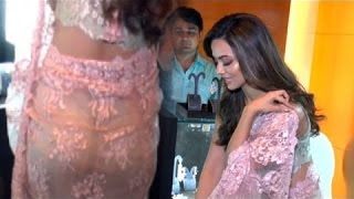Download Sana Khan Butt Exposed In See Through Saree !! Video