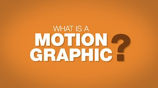 Download What is a Motion Graphic? Video