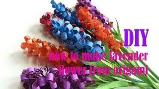 Download DIY - cara membuat bunga lavender cantik dari kertas origami Video