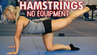 Download Best Hamstring Exercises with NO Equipment Video