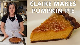 Download Claire Makes Brûléed Pumpkin Pie | From the Test Kitchen | Bon Appetit Video