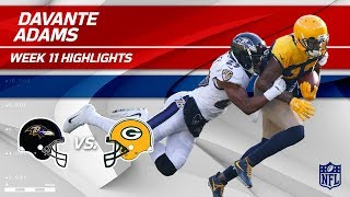 Download Davante Adams' 8 Catches & 126 Yards vs. Baltimore! | Ravens vs. Packers | Wk 11 Player HLs Video