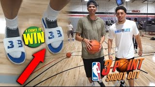 Download NBA 3 POINT CHALLENGE vs LiAngelo Ball for RARE Big Baller Brand SHOES!! Video