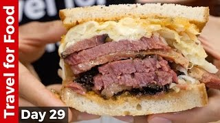 Download New York City Food Tour : HUGE Pastrami Sandwich at Katz's Deli and The Halal Guys! Video