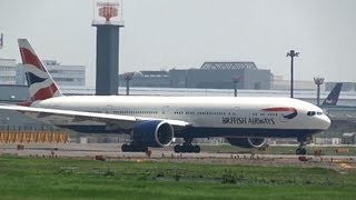 Download British Airways Boeing 777-300ER G-STBF Takeoff from Narita International Airport 16R Video