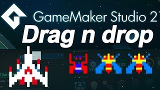 Download Game maker studio 2 : drag and drop tutorial - spaceship (DnD) - no coding Video